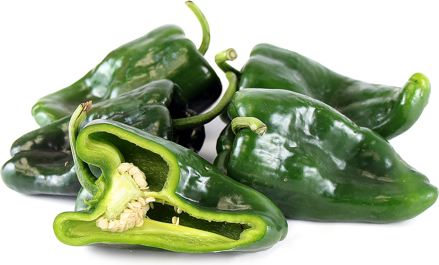 Green Pasilla Chile Peppers