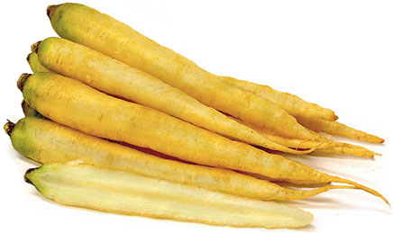 White Bunch Carrots