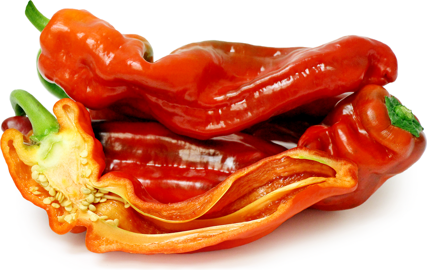 Red Italian Cubanelle Chile Peppers