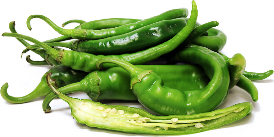 Green Cayenne Chile Peppers